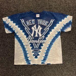 Majestic MLB New York Yankees Tie Dye Shirt M